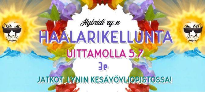 Haalarikellunta & Kesäyöyliopisto-bileet 5.7.