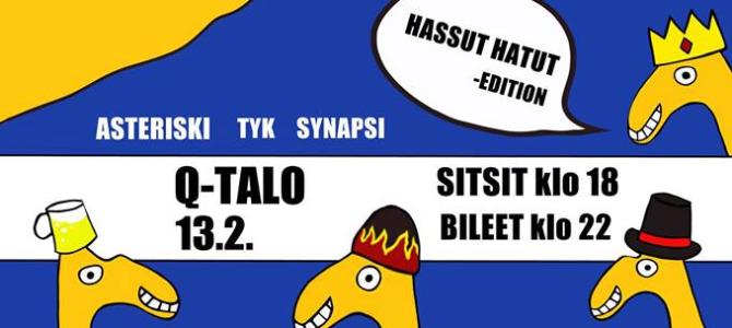 PAKKO OTTAA -sitsit ja bileet 13.2.